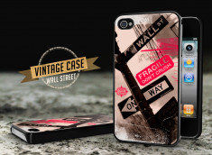 Coque iPhone 4/4S Vintage Case - Wall Street