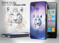Coque iPhone 4/4S Swag Series - White Tiger