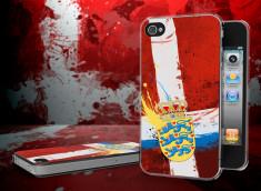 Coque iPhone 4/4S Drapeau Danemark Grunge Translucide