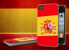 Coque iPhone 4/4S Drapeau Espagne Translucide