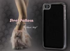 Coque iPhone 4 Steel Pattern - Fur Series-Noir