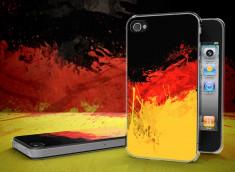 Coque iPhone 4/4S Drapeau Allemagne Grunge Translucide