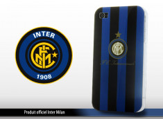 "Coque Officielle iPhone 4 ""Inter Milan"" Noir/Bleu"