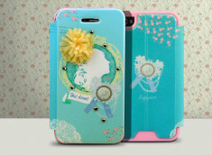 Etui Booklet iPhone 4/4S Happymori - Blue Lady
