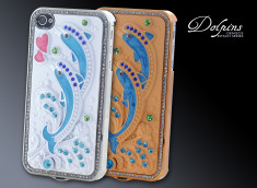 Coque iPhone 4/4S Kitsh Series - Dolphins
