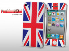 Sticker Karbon iPhone 4/4S British Flag