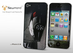 Sticker iPhone 4/4S +Film protecteur assorti Black Car