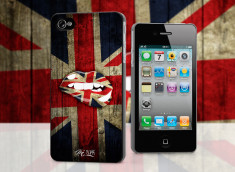 Coque iPhone 4/4S Lips Flag UK