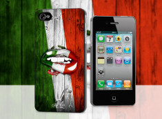 Coque iPhone 4/4S Lips Flag Italia