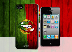 Coque iPhone 4/4S Lips Flag Portugal