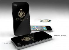 Coque iPhone 4/4S Inter Milan -Noir/Or