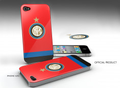 Coque iPhone 4/4S Inter Milan -Rouge/Bleu