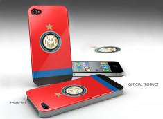 Coque iPhone 4/4S Inter Milan -Rouge/Bleu