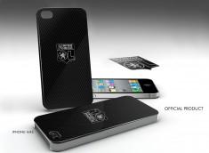 Coque Officielle iPhone 4/4S Olympique Lyonnais - Noir et Blanc
