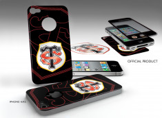 Sticker Adhérent surfaces lisses iPhone 4/4S Stade Toulousain