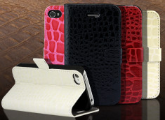 Etui iPhone 4/4S Croco Gloss