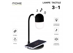 Lampe/Enceinte Bluetooth/Chargeur Induction Premium 5W -Noir