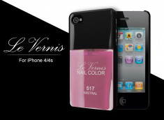 Coque iPhone 4/4S Le Vernis-Rose Mistral