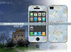 Skin sticker english places