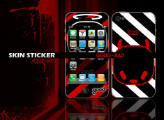 Skin sticker good and bad