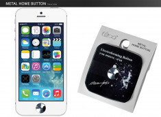 iPhone/iPad/iPod Touch Metal Home Button Steve Jobs-Sticker Argent