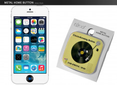 Sticker iPhone/iPad/iPod Touch Bouton Home- Vinyle Jaune
