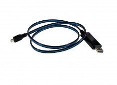 Câble Micro USB Lumineux-Bleu