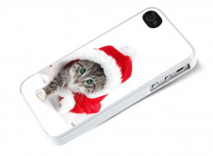 Coque iPhone 4/4S Christmas Cat