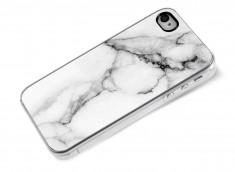 Coque iPhone 4/4S Effet Marbre- Blanc