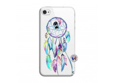Coque iPhone 4/4S Blue Painted Dreamcatcher