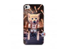 Coque iPhone 4/4S Cat Nasa Translu