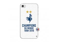 Coque iPhone 4/4S Champion Du Monde Translu