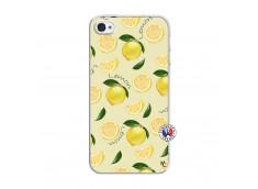 Coque iPhone 4/4S Sorbet Citron Translu