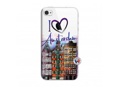 Coque iPhone 4/4S I Love Amsterdam
