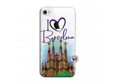 Coque iPhone 4/4S I Love Barcelona