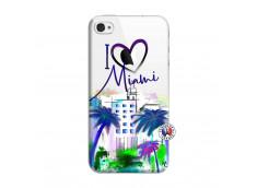 Coque iPhone 4/4S I Love Miami