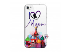 Coque iPhone 4/4S I Love Moscow