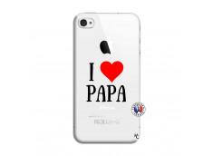 Coque iPhone 4/4S I Love Papa
