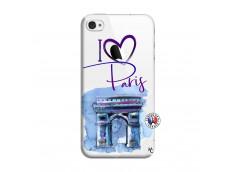 Coque iPhone 4/4S I Love Paris Arc Triomphe