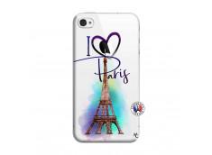 Coque iPhone 4/4S I Love Paris