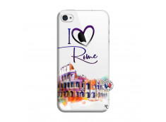 Coque iPhone 4/4S I Love Rome