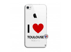 Coque iPhone 4/4S I Love Toulouse