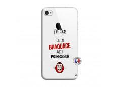 Coque iPhone 4/4S J Peux Pas J Ai Un Braquage Avec Le Professeur