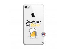 Coque iPhone 4/4S Jamais Sans Ma Blonde