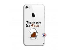 Coque iPhone 4/4S Jamais Sans Ma Brune