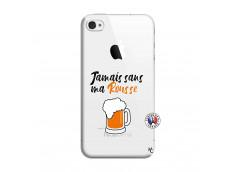 Coque iPhone 4/4S Jamais Sans Ma Rousse