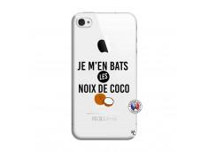 Coque iPhone 4/4S Je m'en bats Les Noix De Coco