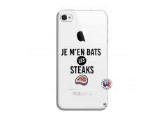 Coque iPhone 4/4S Je M En Bas Les Steaks