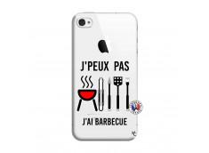 Coque iPhone 4/4S Je Peux Pas J Ai Barbecue