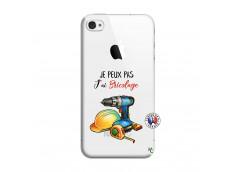 Coque iPhone 4/4S Je Peux Pas J Ai Bricolage